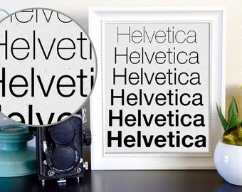 Helvetica Typeface Typography Font Graphic Design Print Instant Poster Digital Download