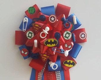 Superhero Babyshower corsage