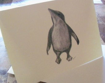 Greeting Card - Penguin  Note Card/Penguin Greeting Card N 11