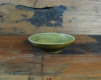Small Green Pottery Bowl