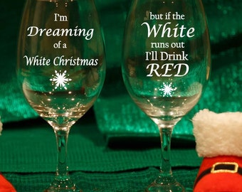 2 Christmas Glasses, Holiday Wine Glasses, Christmas Wine Glasses, Etched Holiday Glasses, Etched Christmas Wine Glasses, Set of 2