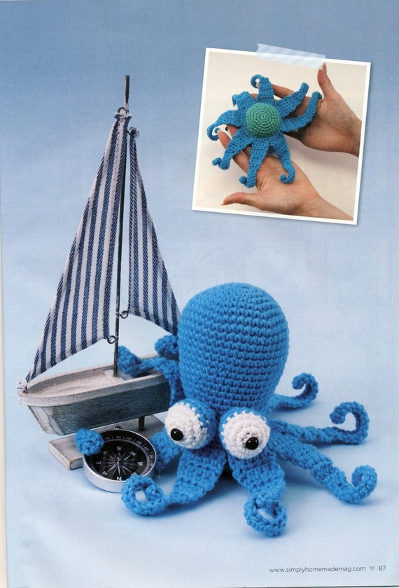 Amigurumi Animals Susan Yeates : OCTOPUS TOY Amigurumi Crochet Pattern. Dr.