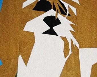 Shih Tzu Dog Paper Piecing Quilt Pattern
