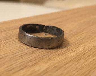 Blacksmithed Hand Forged Titanium Ring
