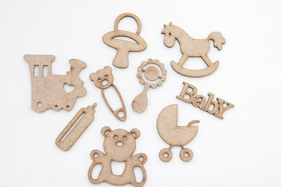 Set of cut outs baby carriage toys shape mdf craft supplies for Wooden craft supplies online