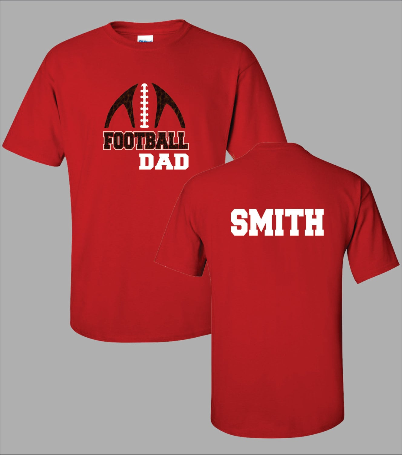 Personalized football dad shirt football team sports team for Personalized football t shirts