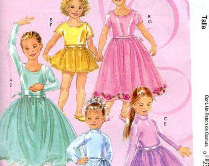 FREE US SHIP Sewing Pattern McCall's 5680 Little Girls Dance Ballet Dress Costume Skating Size 7 8 10 12 14 Brand New