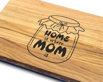 Cutting Board Mothers Day Gift. Gift for Mom, Gift for Her, Gift for Wife, Personalized, Engraved, Mother's Day