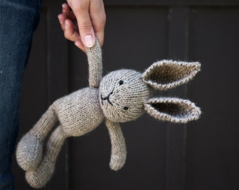 Custom Heirloom Knitted Bunny | Stuffed Animal, Soft Toy, Doll | Organic, Natural, Wool, Cotton | OOAK