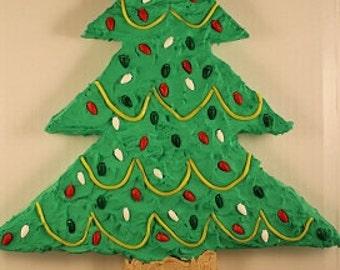 Christmas Tree Cut-Up Cake Pattern