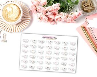 Kawaii Cameo Cutter kiss-cut planner stickers || Erin Condren Life Planner, Kikki K, Plum Paper Planner