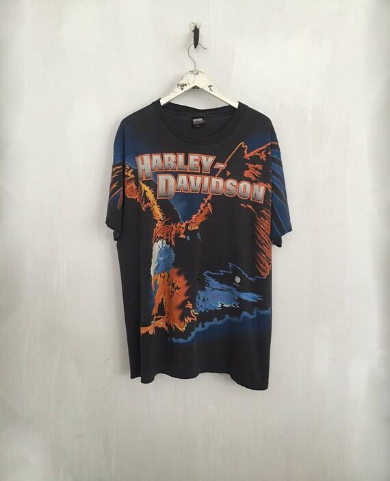 1995 harley davidson shirt vintage harley shirt 90s clothing
