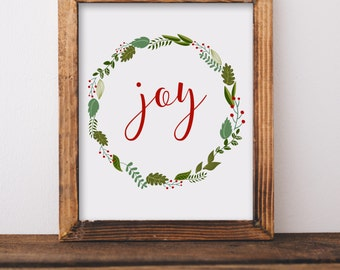 Digital Download//Joy Printable//Merry Christmas Printable//5x7//8x10