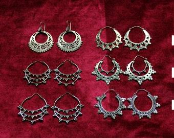 BRONZE EARRINGS - Ethnic - Travel - Boho - Gypsy - Mystic - Hippie Market - Asia - Exotic - Original - Design - Unique -