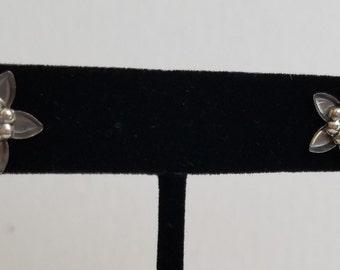 Stainless Steel Flower Earrings (Post)