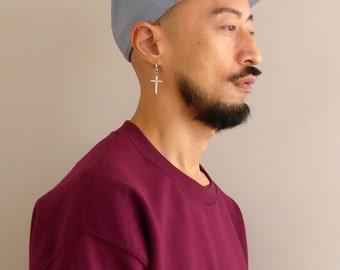 WWYF Plain Cotton Snapback Cap in Grey