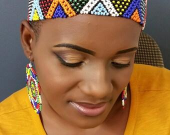 Multicoloured Zulu tribal headbaand
