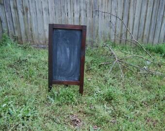 Large Freestanding Rustic Framed Chalkboard, Wedding Chalkboard, Menu Easel, Children's Chalkboard, Wedding Decor, Party Decor, Gift