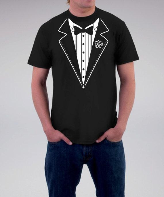 Men 39 s personalized black groom tuxedo t shirt for hubby for Make your own tuxedo t shirt