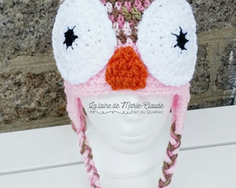 Tuque OWL camouflage pink 6-10 years old is available immediately