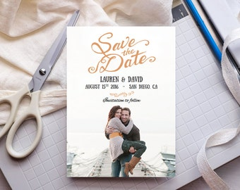 Printable Save the Date Template ANY COLOR - Rustica - Edit Yourself in Word