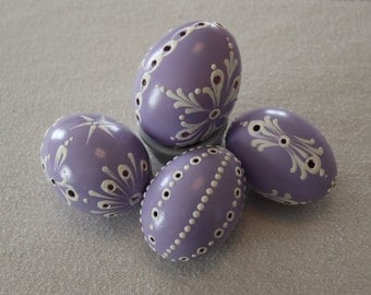 "Wax Decorated Drilled ""Lacey"" Easter Egg, Madeira Kraslice, Pysanky"