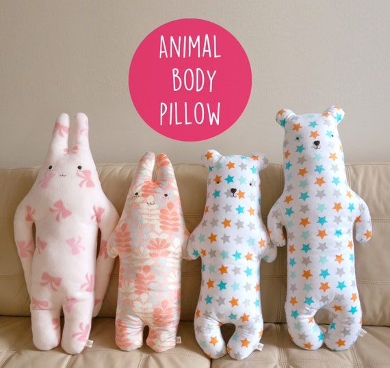 Animal Body Pillows For Toddlers : Personalized bear plush kids animal body pillow body pillow