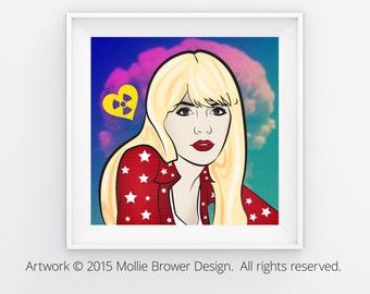 Marina and the Diamonds Inspired 12x12 Art Print