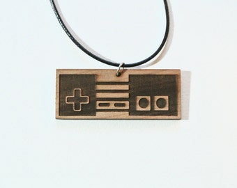NES Controller Wood Necklace