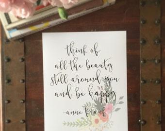 Anne Frank Print