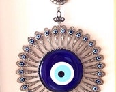 Evil eye wall hanging - evil eye - nazar boncuk - large glass evil eye - Turkish evil eye - evil eye décor - evil eye beads - greek evil eye