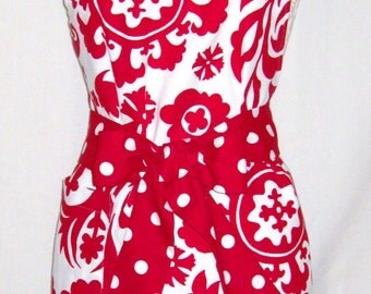 Ashley Apron by SF Bay Aprons  Color:Red