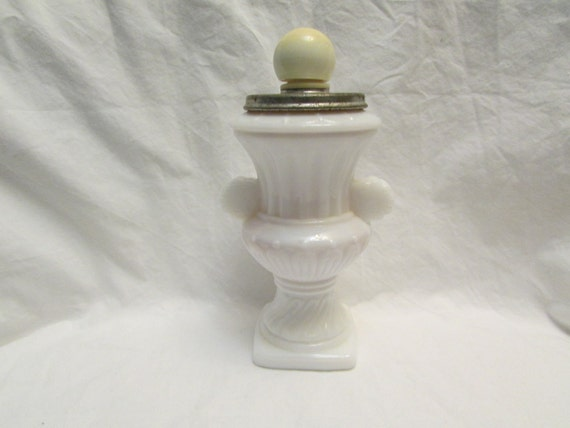 Avon bath urn vintage milk glass white glass mint by shabfinds