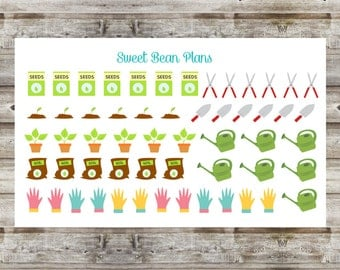 50+ Gardening and Planting Planner Stickers