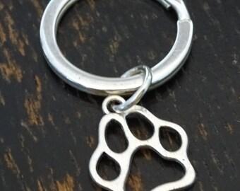 Dog Paw Keychain, Custom Keychain, Custom Key Ring, Dog Paw Charm, Dog Paw Pendant, Dog Paw Jewelry, Dog Keychain, Dog Lover Keychain Gift