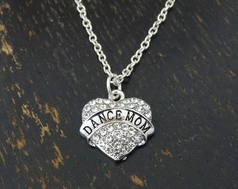 Dance Mom Necklace, Dance Mom Charm, Dance Mom Pendant, Dance Mom Jewelry, Dance Necklace, Dance Jewelry, Dance Pendant, Dance Charm