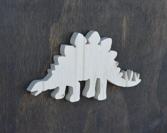 Stegosaurus Dinosaur Wood Cutout