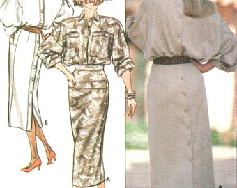 Butterick vintage 1980s sewing pattern - mod dress - Size 8-10-12