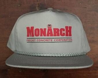 Vintage Monarch Concrete Products Trucker Hat Snapback Baseball Cap