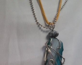 Arizona turquoise stone slice necklace