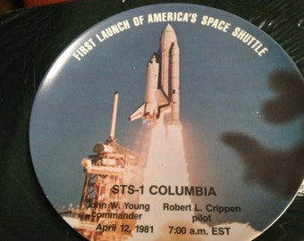 First Launch Of America's Space Shuttle Commemorative Plate
