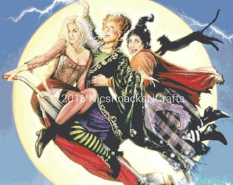 Sanderson Sisters Cross Stitch Pattern