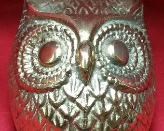 Solid Brass Owl