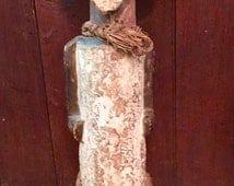 African Sculpture Ambete Reliquary Nkisi Vintage Handcarved Wood Art Shaman Empowerment Protection Sculpture Tribal Ethnic Power Fierce!