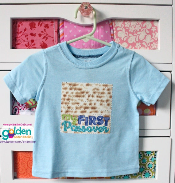 My First Passover or Happy Passover, Matzoh, Pesach Tee, Girls or Boys