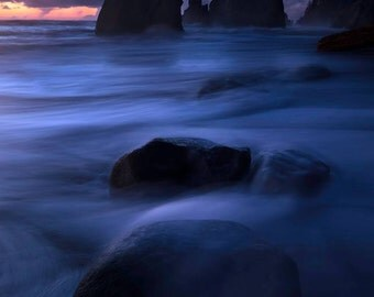 Wipeout, Rialto Beach, Rialto, washington, sunset, landscape, star, nature, wall art, olympic national park,