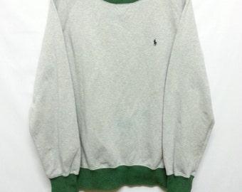 90's//Polo Ralph Lauren//Ringer Jumper//Sweater Sweatshirt//Size L//