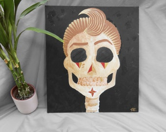 Acrylic Skull Painting