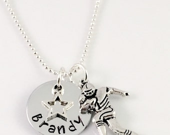 Football mom necklace, Personalized football star Necklace,  personalized football mom necklace, name necklace, football player necklace