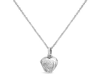 Sterling Silver Heart Locket Necklace Pendant - Sterling Silver Heart Pendant - Tiny Heart Locket Jewelry - Heart Necklace - Gift for Her